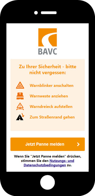 Screenshot-Pannenhilfe-App